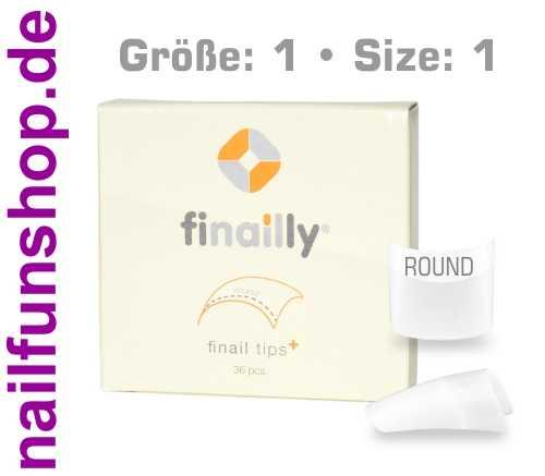 36 Ersatztips x-fit round SIZE 1 für das Finail Fitting Tipsystem