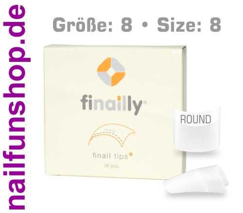 36 Ersatztips x-fit round SIZE 8 für das Finail Fitting Tipsystem