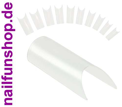500 Profi Tips NEW TUBE - SHAPED CLEAR - Der Trend Tip im Nachfüllbeutel