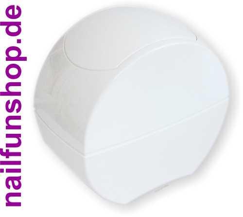 NAILFUN Designer Tisch-Abfallbehälter weiss - transparent mit praktischem Klappdeckel - selbstschliessend