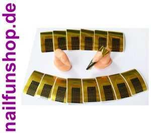 Übungsfinger für Schablonen inkl. 20 Modellier - Goldschablonen