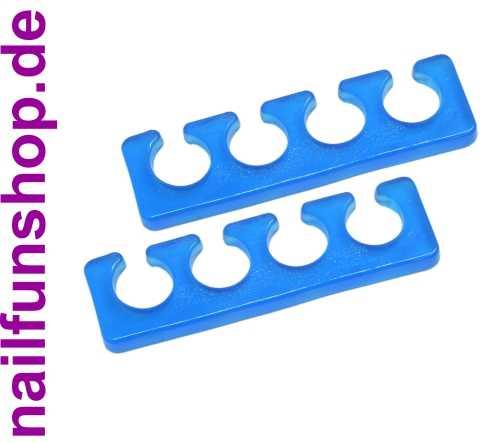 Silikon Zehenspreizer - Fingerspreizer - blau - 2 Stück Packung