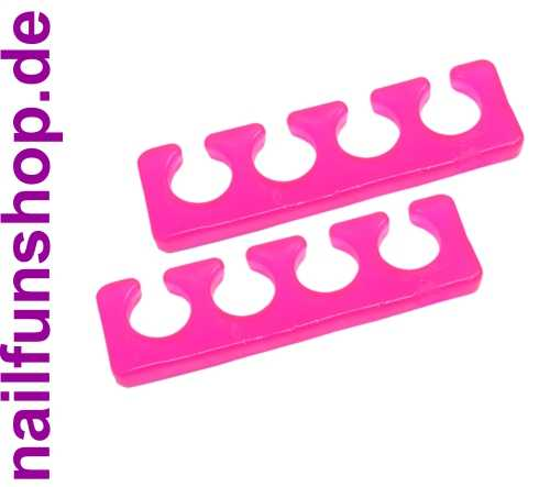 Silikon Zehenspreizer - Fingerspreizer - rosa pink - 2 Stück Packung