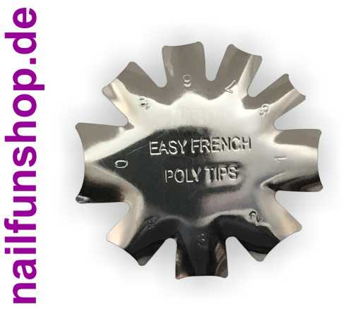 Edge Trimmer - Easy French Poly Tips - Metallschablone