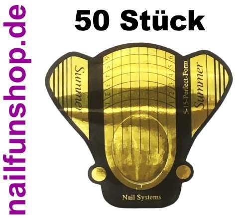 50 selbstklebende Schablonen Butterfly Gold extrabreit