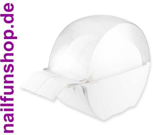 Designer Zellettenbox weiss-transparent gefüllt mit 500 Zeletten